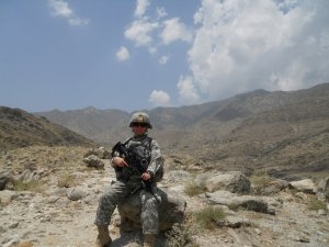 SGT Jenna in Langhman Province, Afghanistan