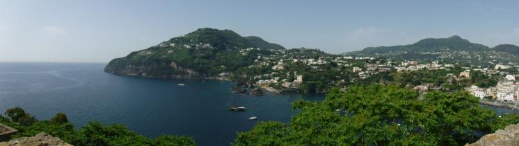 View from Castello Aragonese in Ischia