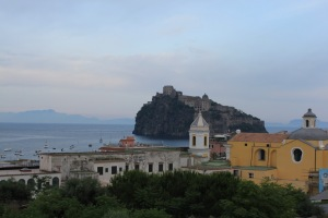 Castello Aragonese from our hotel in Ischia