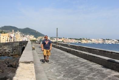 Walking to Castello Aragonese in Ischia